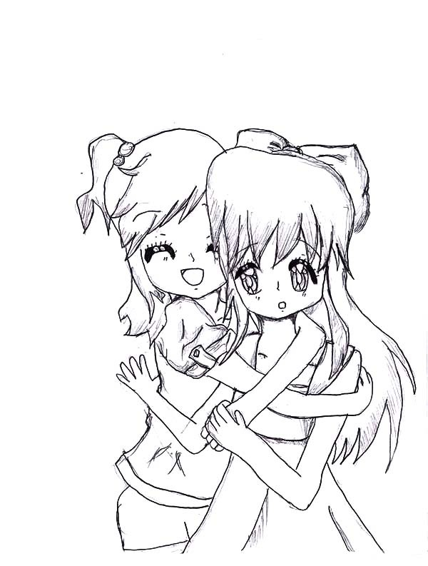 600x793 Hug My Best Friends Tight Coloring Pages Best Place To Color