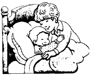 311x260 Mother Hugs Child At Bedtime