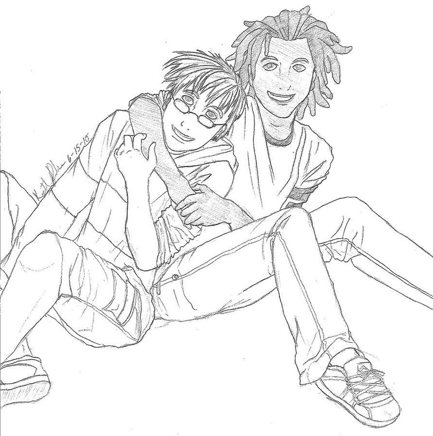 891x897 Best Friend Hug By Inugurl107