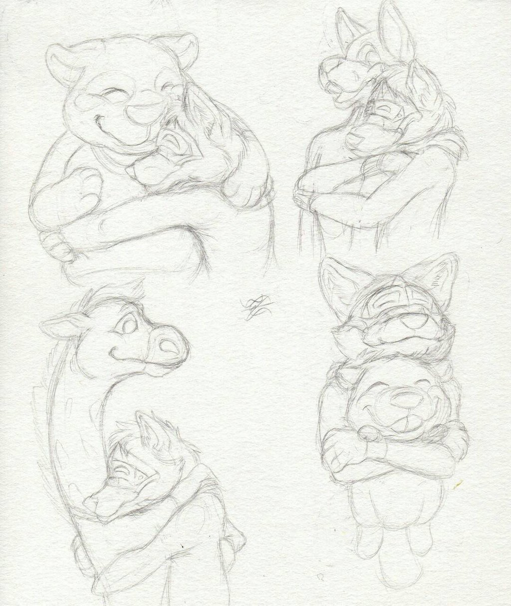 1024x1214 Daily Drawing Day 470 All Kinds Of Hugs By Midnighthuntingwolf