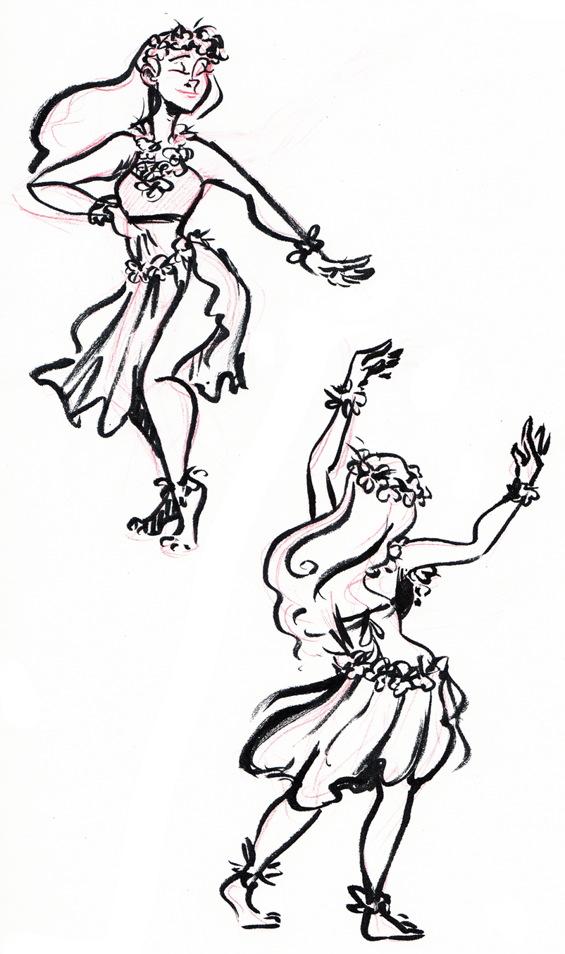 802x1353 Hula Coloring Pages