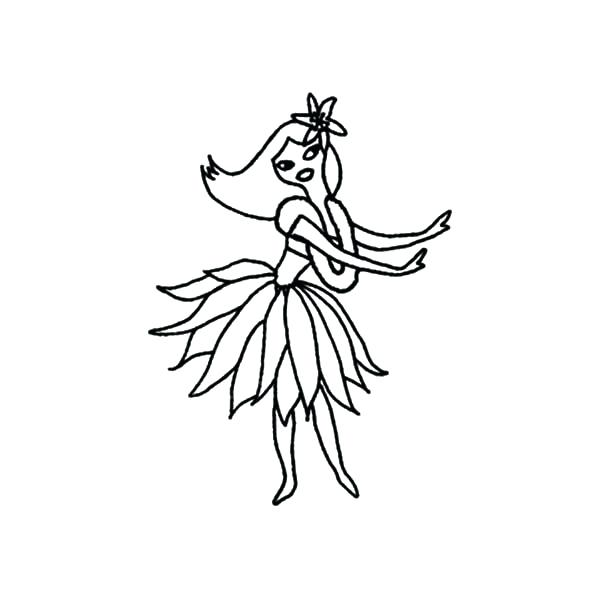 600x600 Hula Girl Coloring Page Traditional Dance Hula Girl Coloring Pages