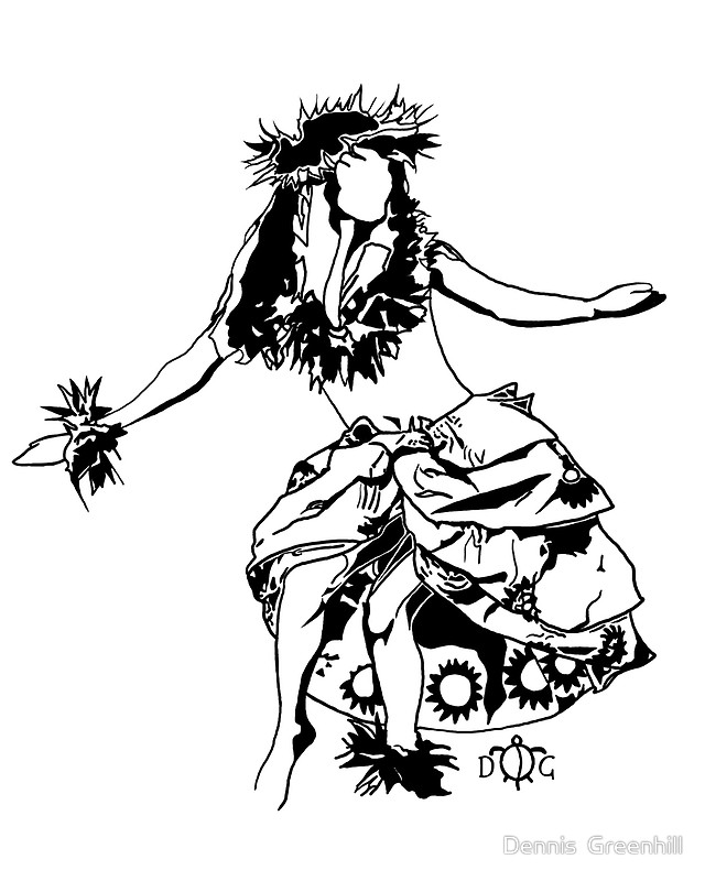 640x800 Hula Dancer 3 By Dennis Greenhill Designs For Bleach Pen T