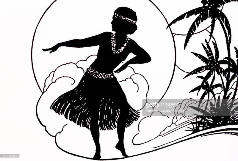 800x542 Hula Girl Silhouette Clip Art