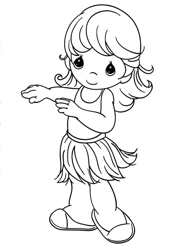 600x827 Minimalist Precious Moments Coloring Pages Best Of Hula Girl Sky P
