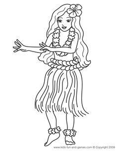 236x305 Hawaiian Hula Dancers Coloring Pages Hula Girl Dancers Coloring