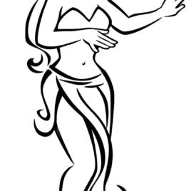 268x268 Coloring Pages Hula Girl Kids Drawing And