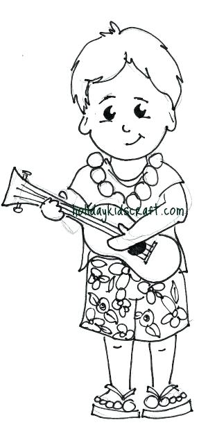 300x615 Here Are Hawaiian Coloring Pages Pictures Hula Girl