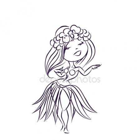 450x450 Hula Dancer Stock Vectors, Royalty Free Hula Dancer Illustrations