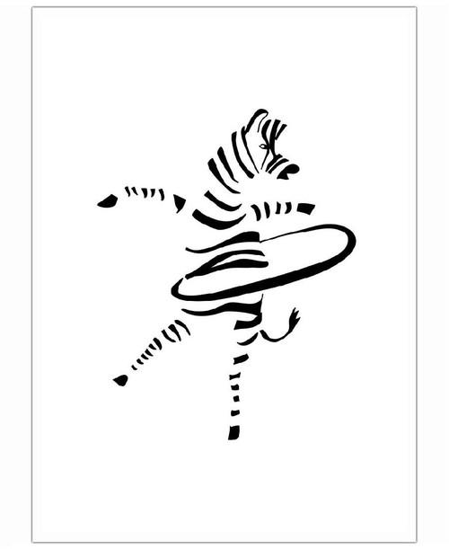 500x611 Hula Hoop Zebra Als Premium Poster Von Christina Heitmann Juniqe