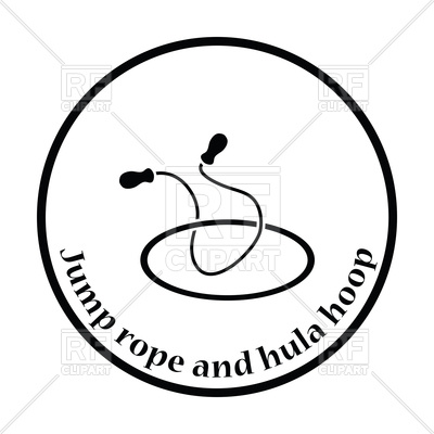 400x400 Silhouette Of Jump Rope And Hula Hoop Royalty Free Vector Clip Art