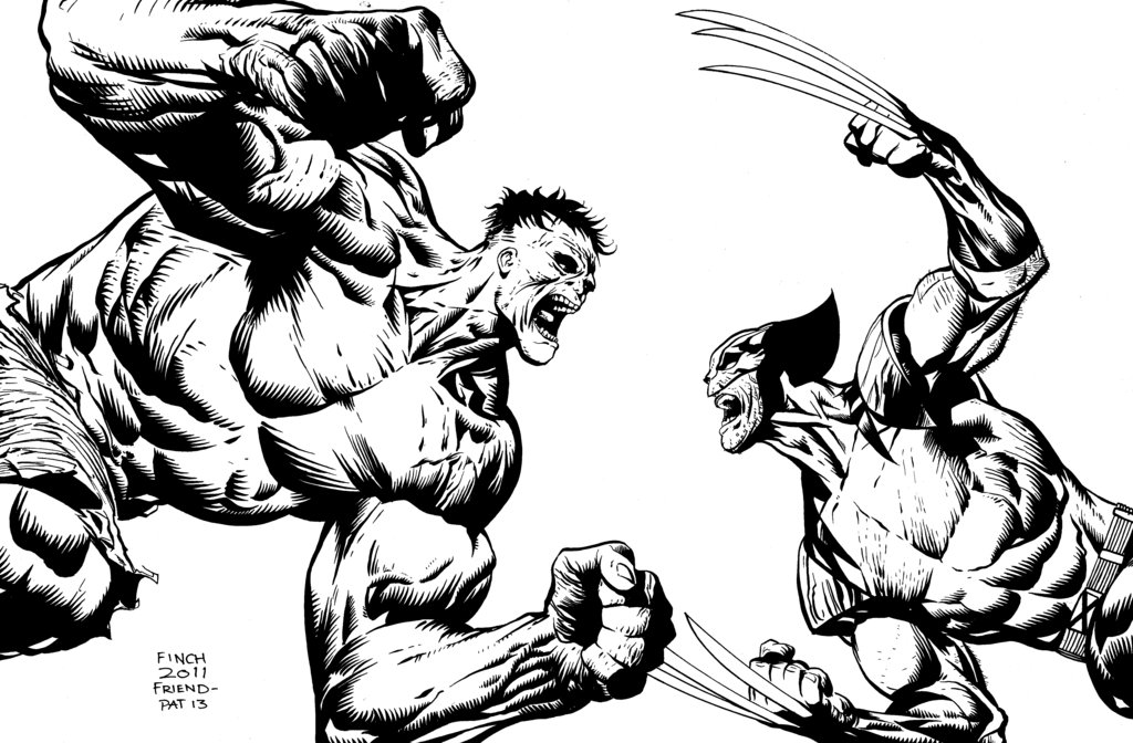 1024x672 Hulk Vs Wolverine By Inklens On DeviantArt