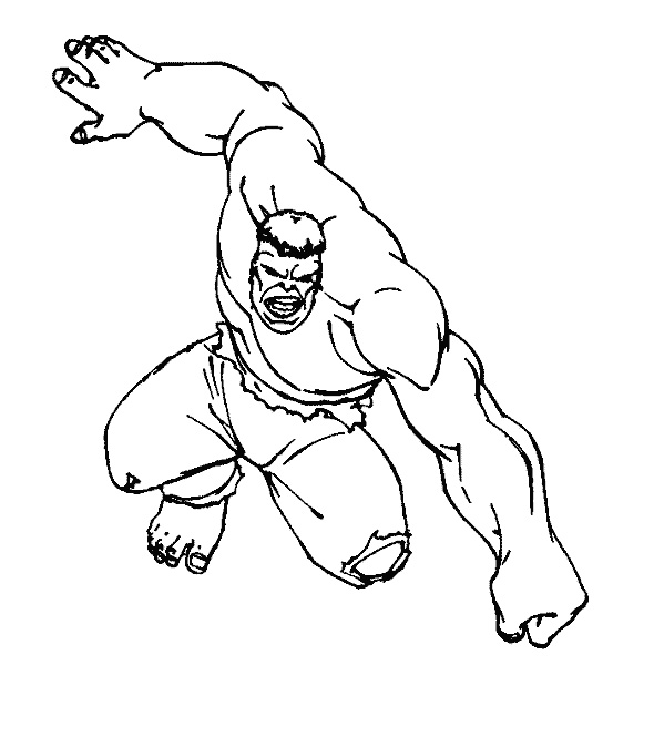 590x674 Incredible Hulk Coloring Pages Printable Httpfreecoloring Pages