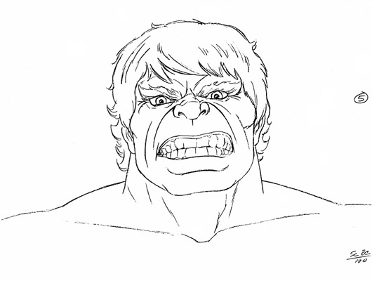530x400 Cartoon Drawing Of Incredible Hulk Face Okay, Back To Finding