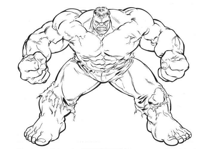 700x500 Coloring Pages Incredible Hulk Coloring Pages Cartoon Printable