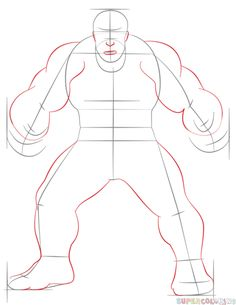 236x305 How To Draw Hulk Step By Step Drawing Tutorials How To Draw