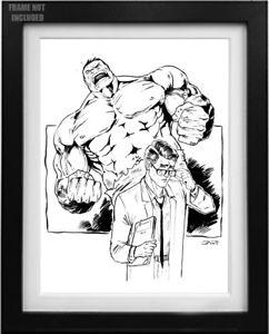 242x300 Hulk Ink Drawing Ebay