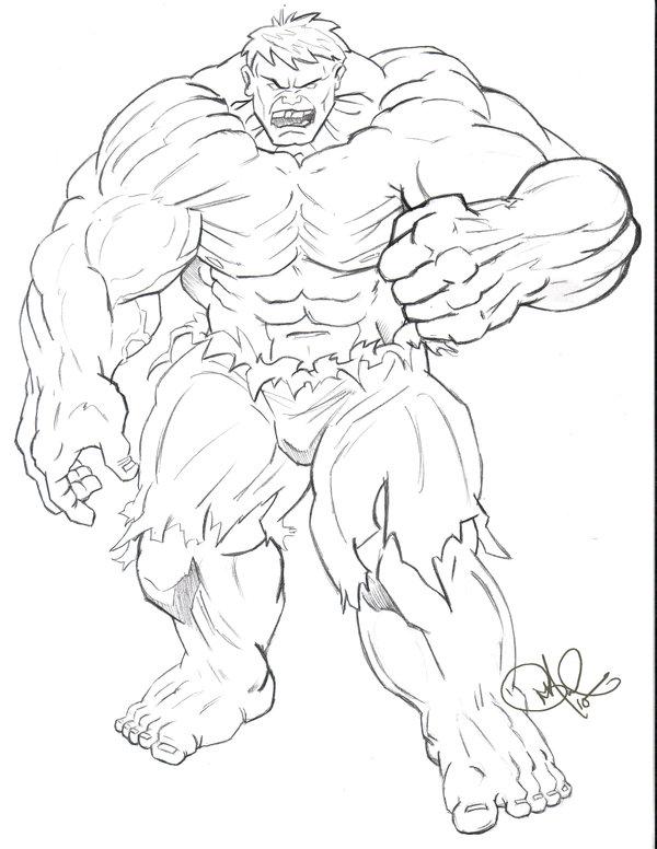 600x776 Hulk Sketch Commission By Dragonbrush