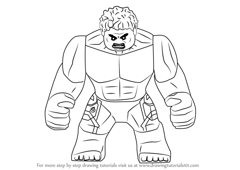 800x566 Learn How To Draw Lego The Hulk (Lego) Step By Step Drawing