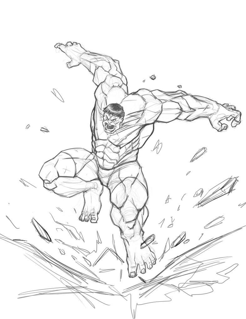 786x1017 Hulk Sketch By Freddylupus On Hulk Cartoon Art Tattoo