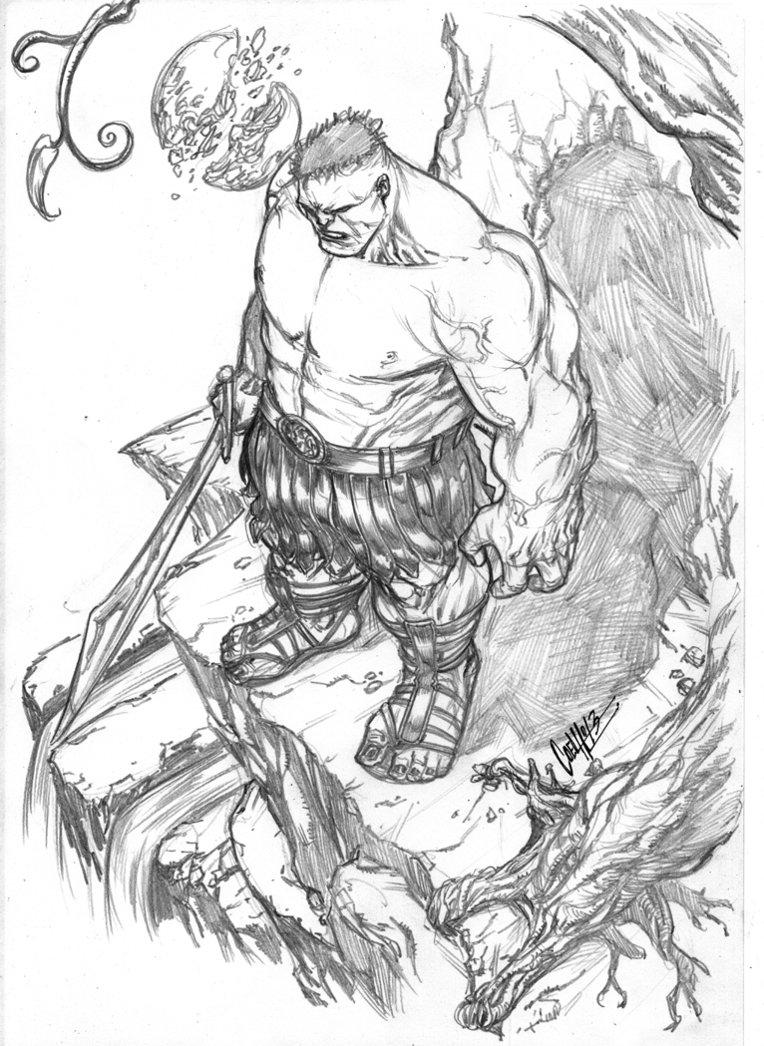764x1046 Planet Hulk Sketch By Andrecoelhoart