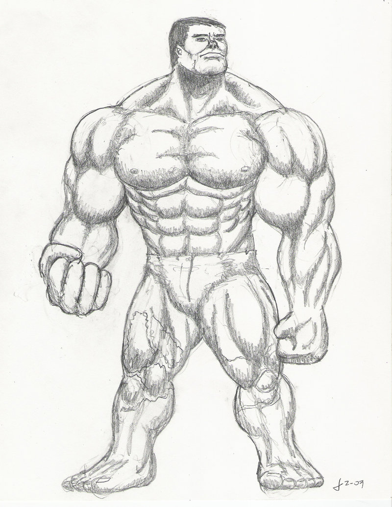 800x1035 How To Draw The Incredible Hulk Easy How To Draw Abomination