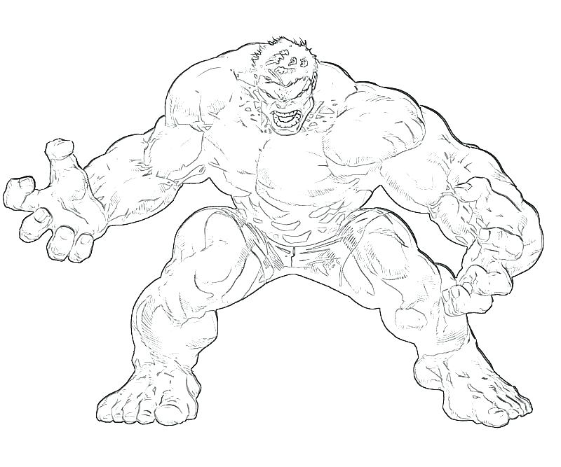 800x667 Hulk Color Pages Free Printable Coloring For Toddler