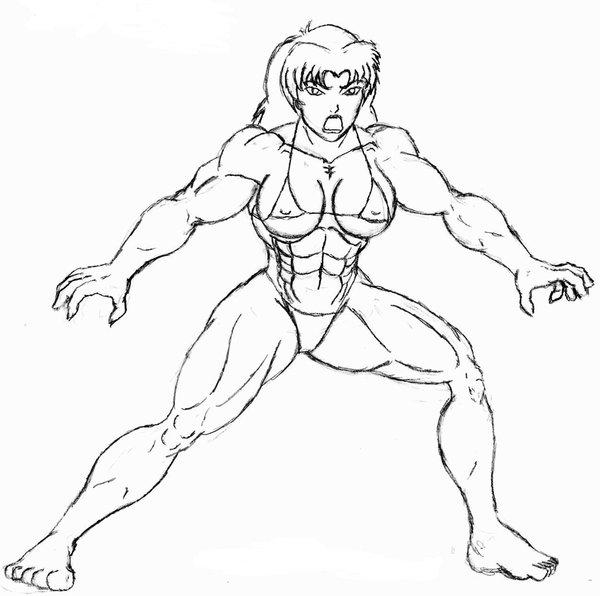600x596 She Hulk Smash Pencil Sketch By Orionpax09