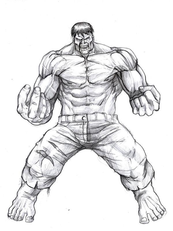600x799 Hulk Sketch By Robertatkins. How To Draw The Hulk Tutorial. Hulk