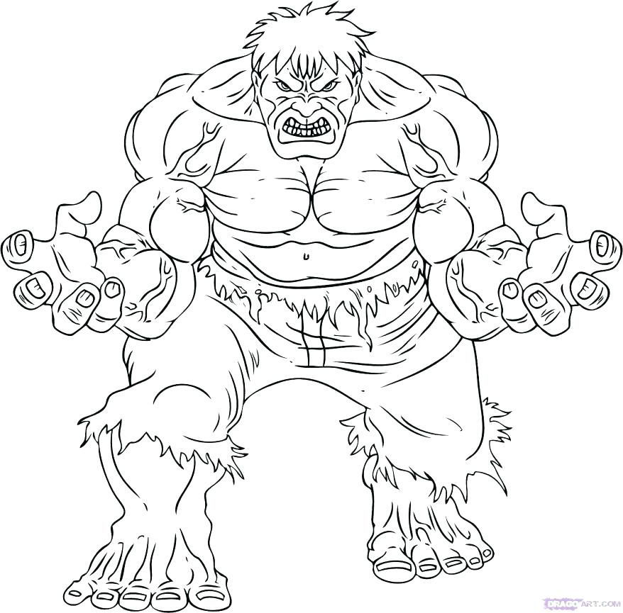 878x865 Hulk Coloring Page How To Draw The Incredible Step 7 Exciting Face