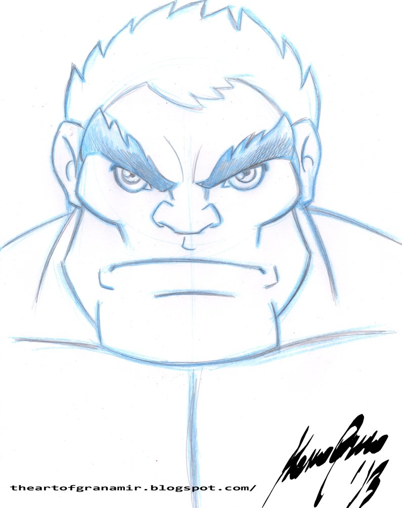 795x1006 Hulk Sketch By Granamir30