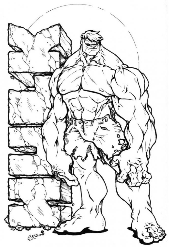 687x1001 Coloring Pages Incredible Hulk Coloring Pages Cartoon Printable