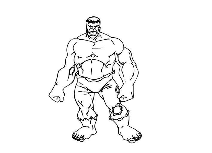 709x513 Incredible Hulk Coloring Pages Bebo Pandco