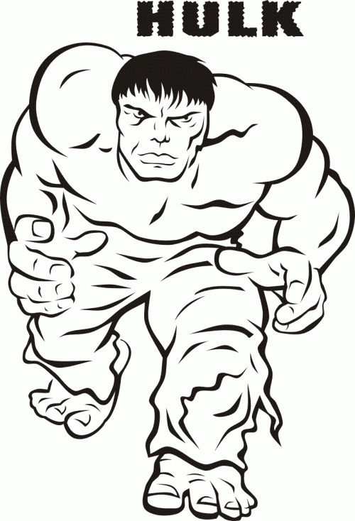 500x734 Incredible Hulk Coloring Pages Printable