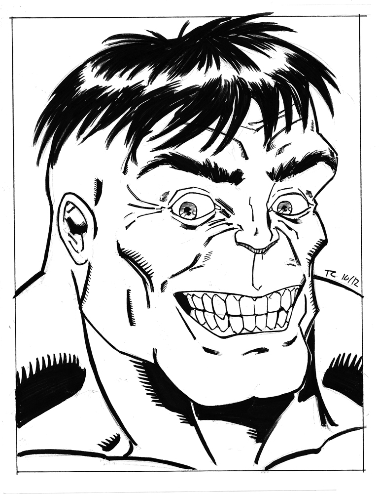 769x1000 Creepy Hulk Inks By Ninjaspidey