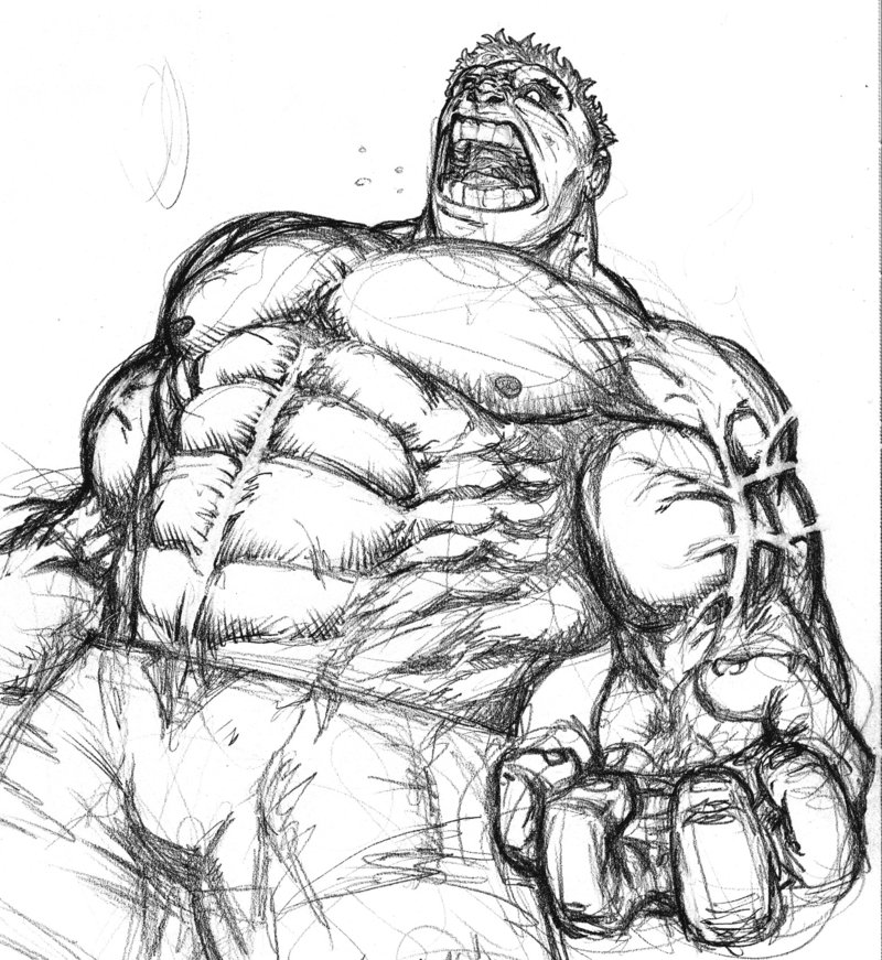800x871 Old Hulk Sketch By Spacehater