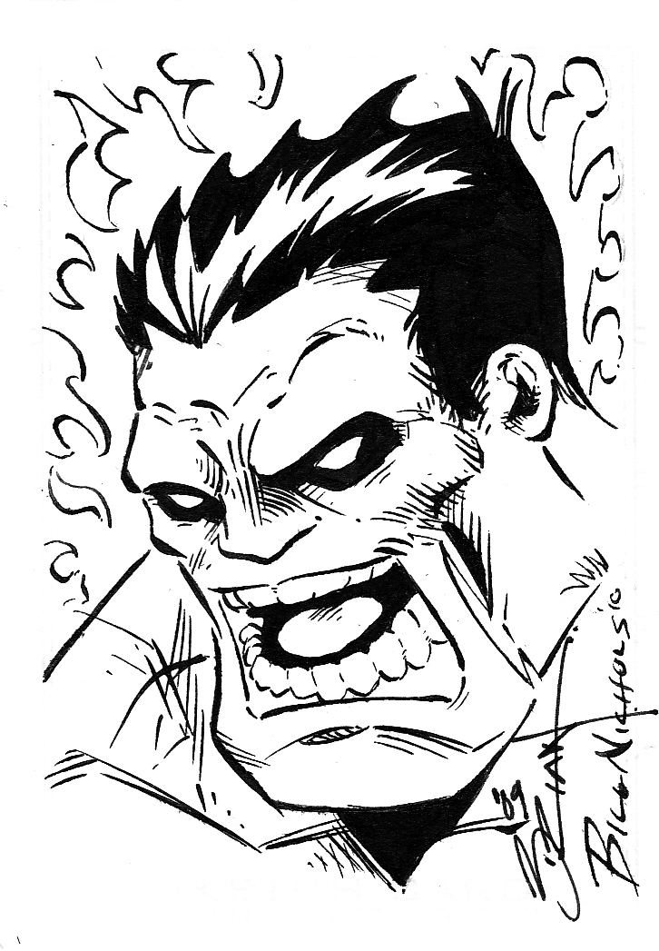 726x1047 Red Hulk Sketch Card By Billnichols