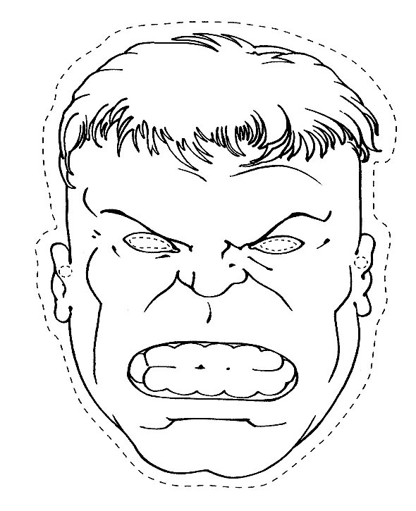 590x725 The Head Of The Hulk Coloring Page Homeroom Decor