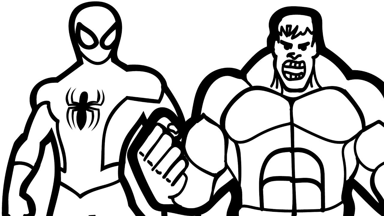 1280x720 Hulk Clipart Colouring Page Pencil And In Download Coloring Pages