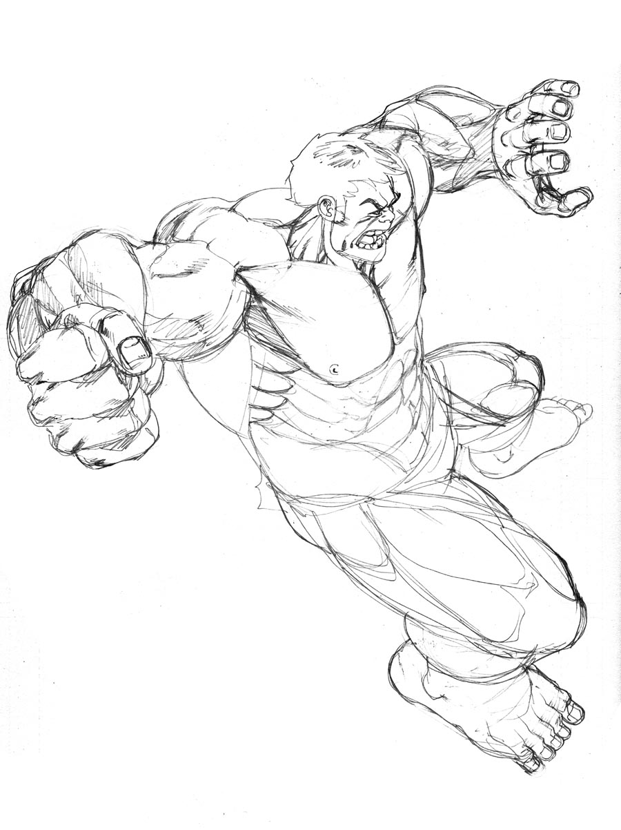 Hulk Drawing In Pencil At Getdrawings