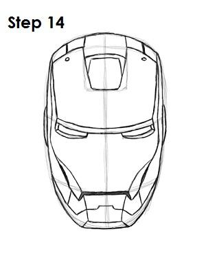 300x388 Iron Man Head Drawing Step By Step Hulk Drawings Step By Step
