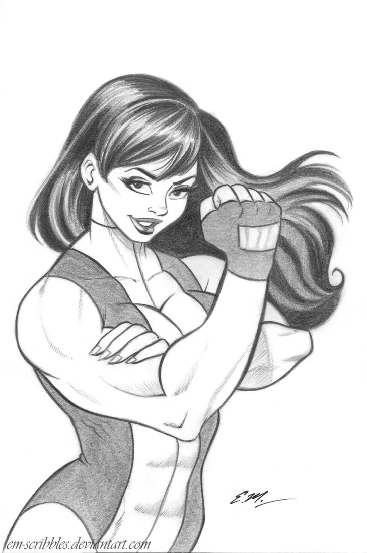 729x1097 She Hulk Sketch Commission By Em Scribbles