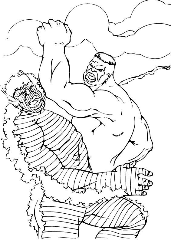 565x793 Hulk Fights With Abomination Coloring Pages
