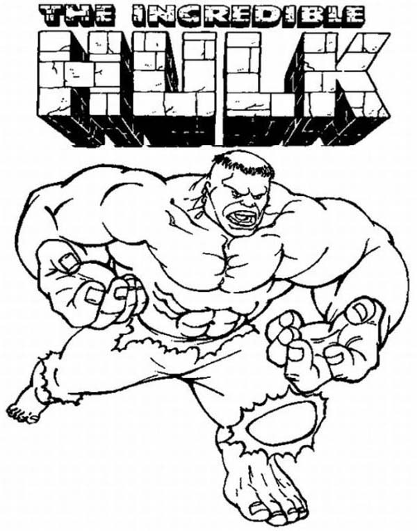 600x764 the incredible hulk coloring page