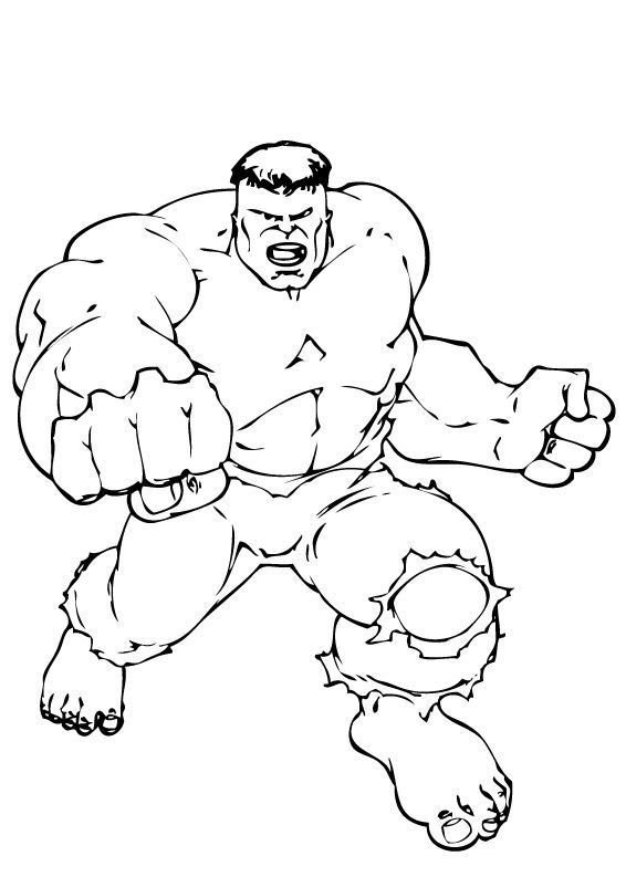566x793 The Hulk Coloring Pages