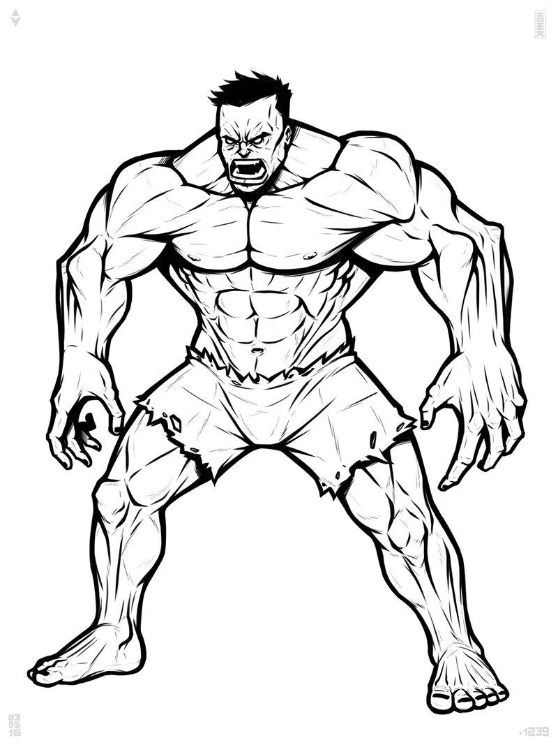 Hulk Easy Drawing