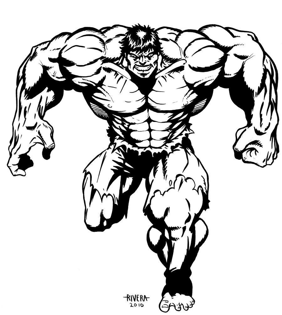 900x1007 Hulk Inked By Lenlenlen1