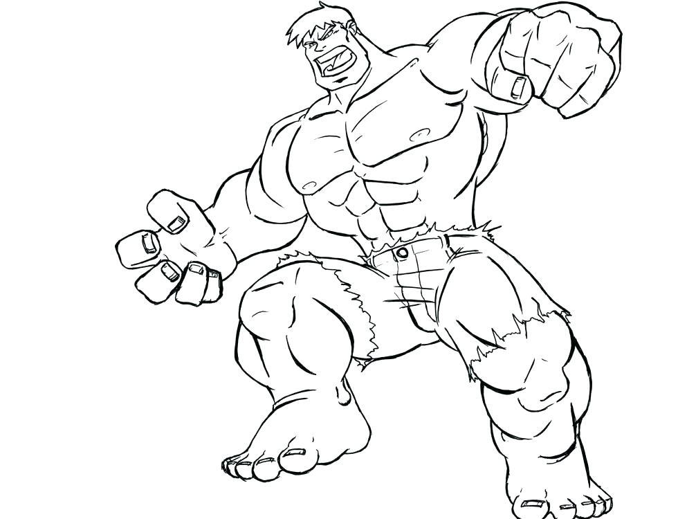 980x750 Hulk Coloring Page Affan