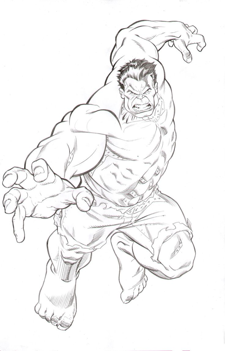 Hulk Face Drawing