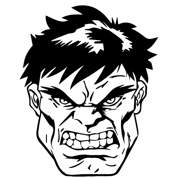Hulk Face Line Drawing : Hulk face drawing at getdrawings free for personal